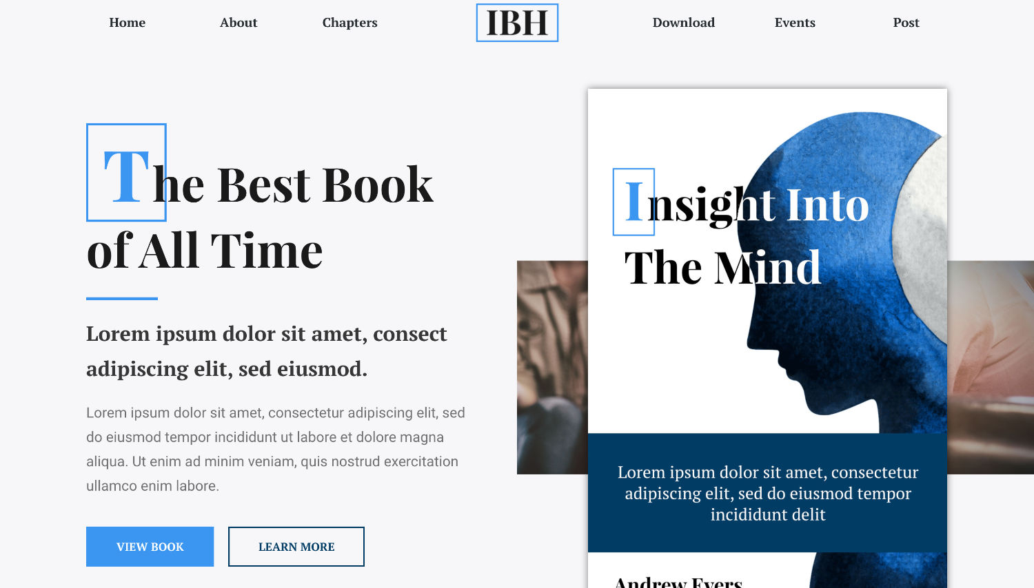 IBH Books Free Elementor Template Preview by ThemeShark
