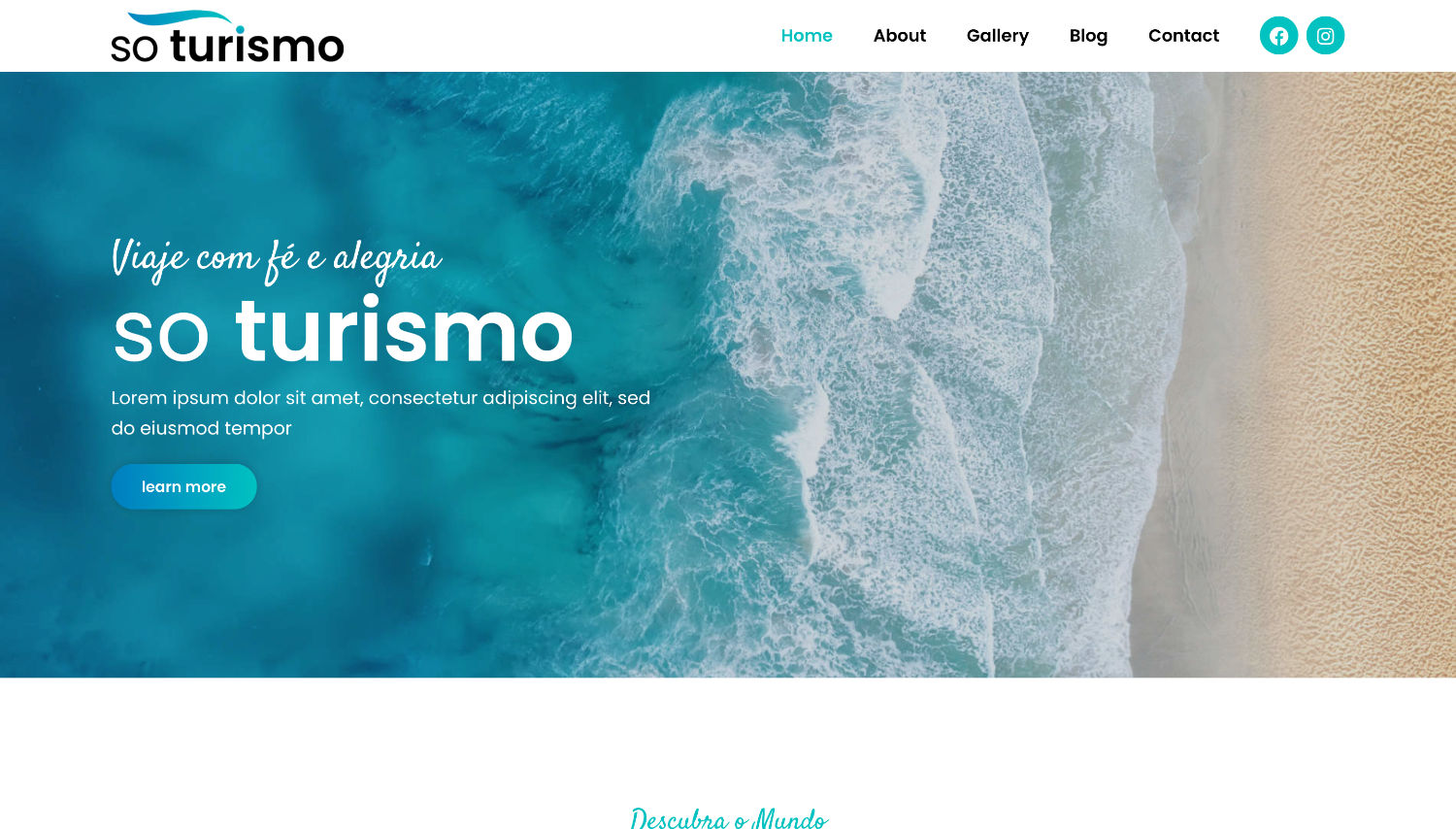 Turismo Free Elementor Template Preview by ThemeShark